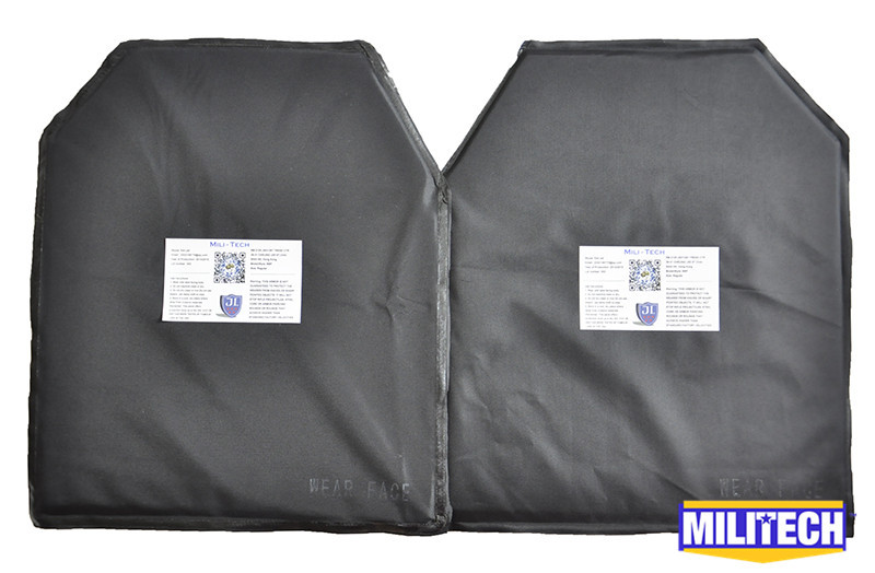 MILITECH 10'' x 12'' Advanced SC Cut Pair Ballistic Panel Bullet Proof Plate Backer Body Armor Soft Armour NIJ Level IIIA 3A