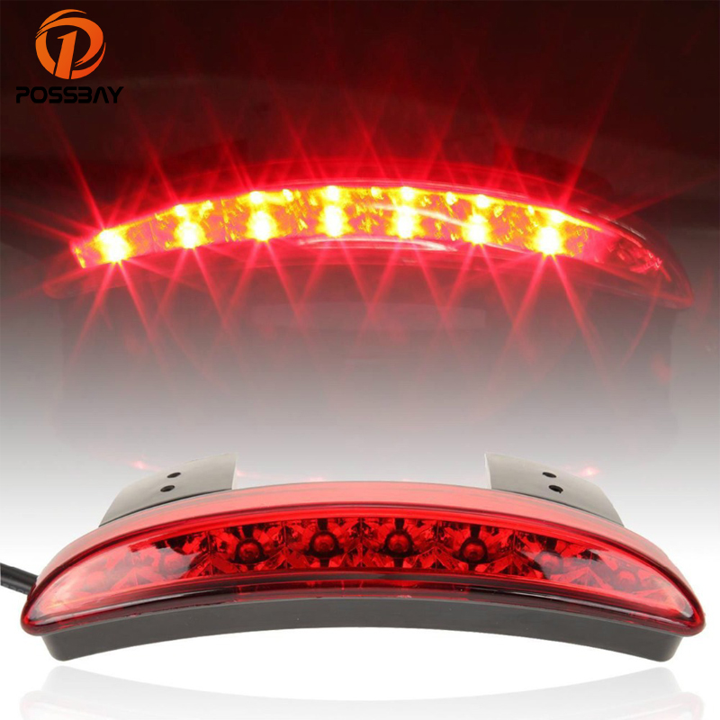 Back To Search Resultshome Constructive Possbay Smoke Red Motorcycle Led Light Brake Tail Light Rear Fender Edge Motocross For Harley Sportster Xl 883 1200 Cafe Racer Street Price