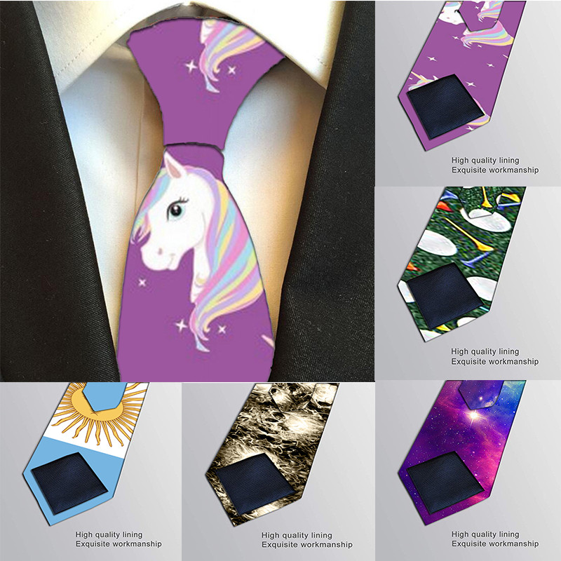 Hot New 3D Printed Tie For Men Necktie 8cm Width Polyester Tie Wedding Accessories Fashion Male Funny Casual Neckties H-LD33