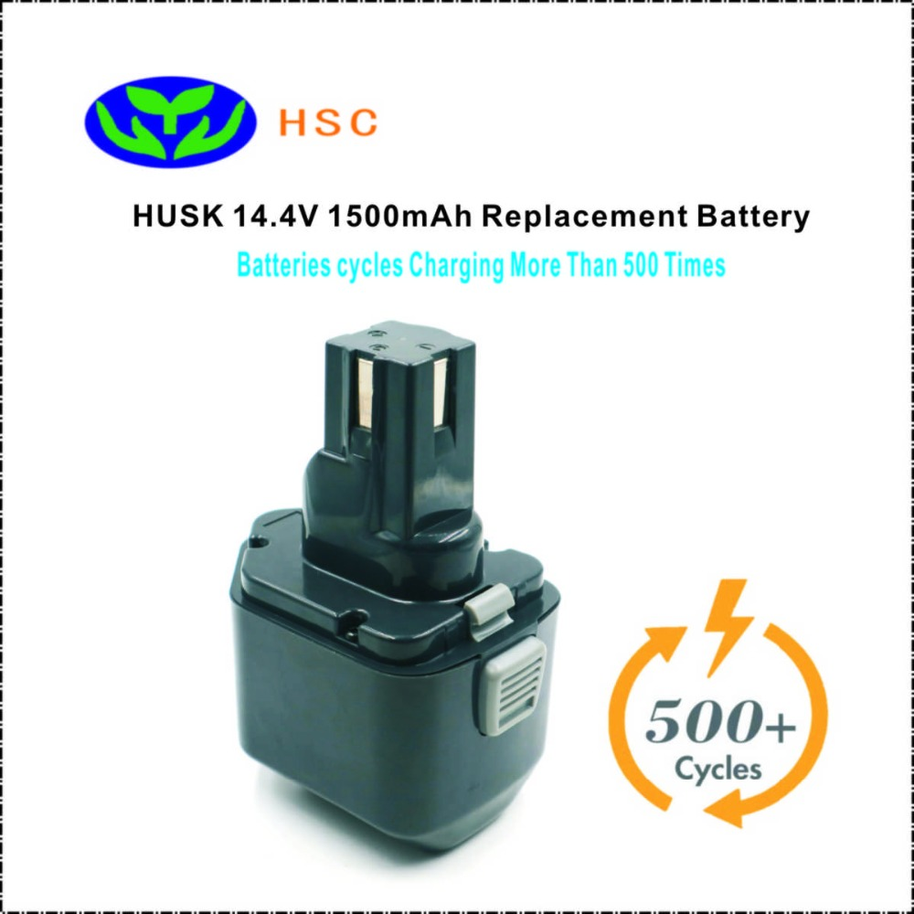 1 5Ah Rechargeable battery pack BP 70E14 4 NiCD Battery 14 4V Replacement HUSKIE BP 70E