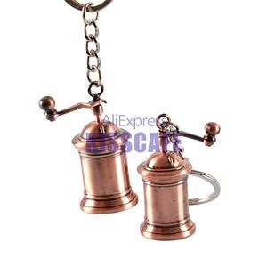 Image 5 - Caffè Espresso Accessori Per Caffè portachiavi moka/sifone caffettiera/bollitore/grinder/tamper/brocca di latte/portafilter caffè in stile portachiavi regalo