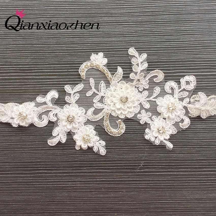 Wedding Leg Garter: Qianxiaozhen Flower Lace Leg Wedding Garter Bridal Garters