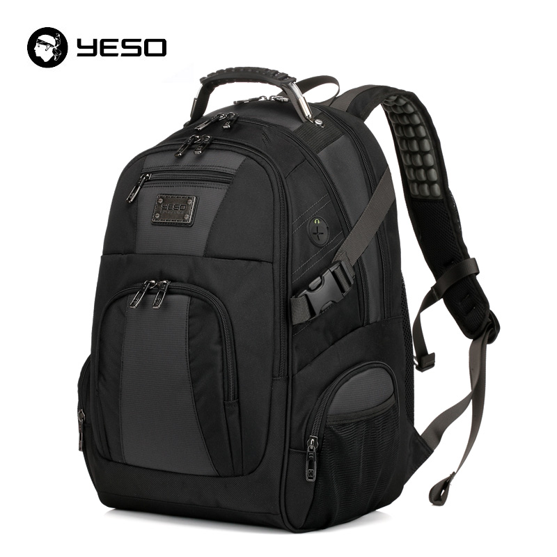 YESO Large Capacity Laptop Backpack Men Multifunction Waterproof 15 6inch Backpack For Teenagers Business Casual Travel