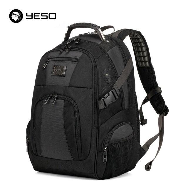 YESO Grande Capacidade Homens Mochila de Laptop Multifuncional Business Casual Mochila de Viagem À Prova D' Água 15.6 polegada Mochila Para Adolescentes