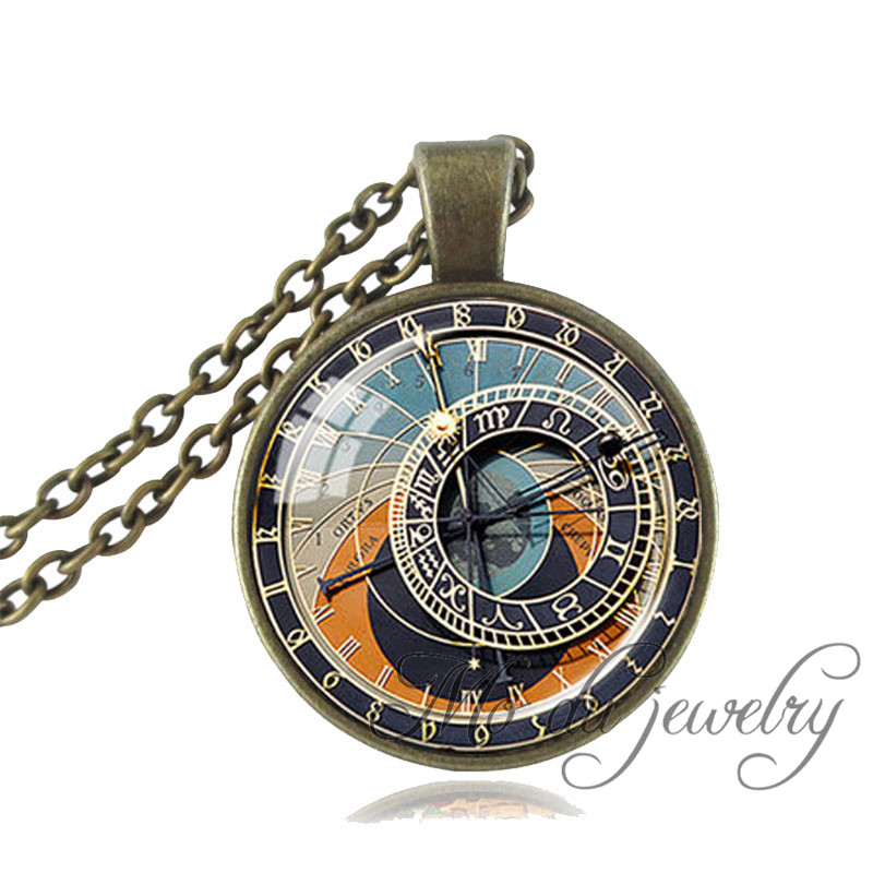 jewellery jewelry shipping art pendant clock necklace free from glass item photo vintage watch dome in necklaces round pocket