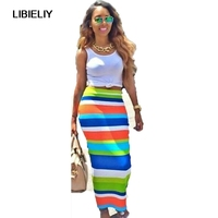 New Nice Summer Style Women Beach Dress Striped Printed Long Maxi Dress Fashion Casual Bohemian Sheath Dresses Plus Size Outfit