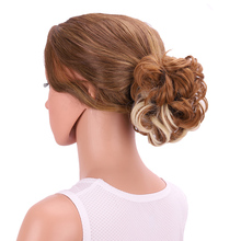 Delice Ombre Claw Hair Buns Synthetic Curly Chignon Updo Cover Hairpieces