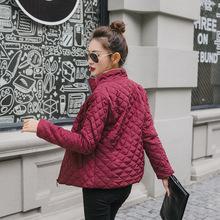 Wiosna 2019 nowe podstawowe kurtki parki damskie damskie zimowe Plus aksamitne płaszcze bawełniane kurtki zimowe damskie znosić płaszcz jednolity kolor tanie tanio FEKEHA Na co dzień Szczupła Stałe FKH509 Pełna Kobiety Regularne 400-550g Poliester Bawełna Standardowych Zamek Kieszenie