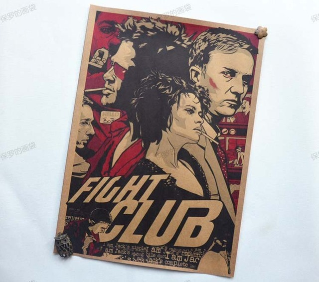 Fight club Movie Vintage Paper Posters Retro art Wall Decoration – 30X42 CM
