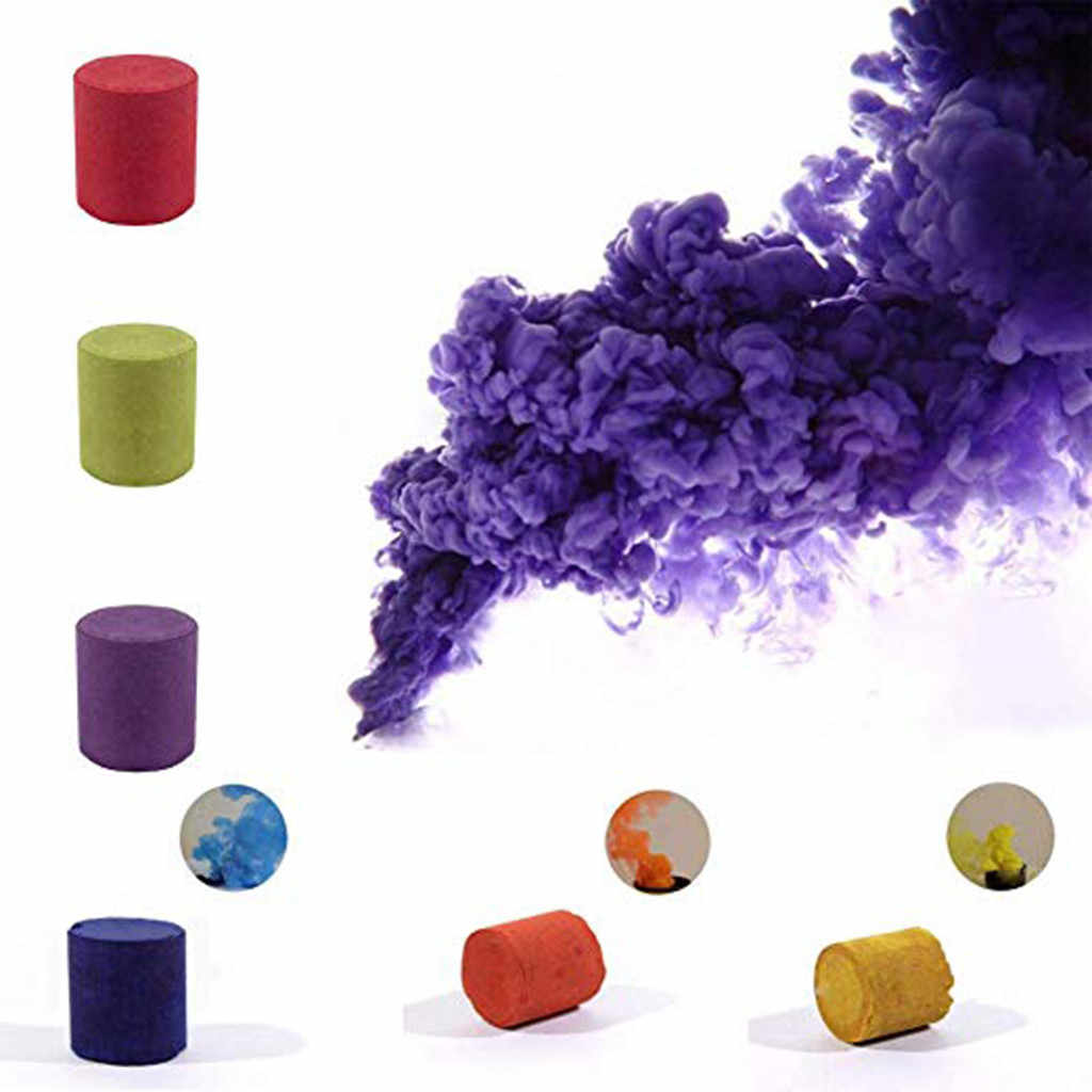 ควันเค้ก 1/6pcs เค้กที่มีสีสันควันแสดงรอบระเบิด Stage ถ่ายภาพ Aid Multicolor ตกแต่งเครื่องมือควันเค้ก ^ 5