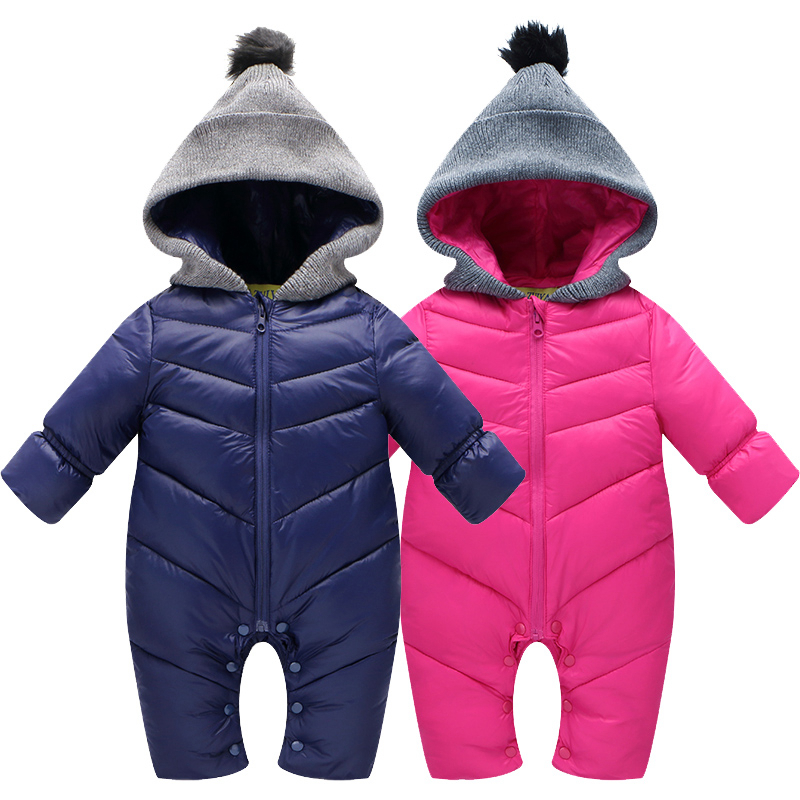 baby snowsuit new arrival winter down jacket for infant girls boys outerwear jumpsuit cotton padded warm