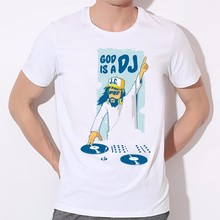 """God is a DJ"" + other designs – men's t-shirt"