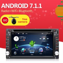 +Free Camera 6.2″ Android 7.1.1 Car Radio 2DIN GPS Navigation Bluetooth USB SD DAB+ TPMS OBD Stereo MP3 MP5 CD DVD Player+Map