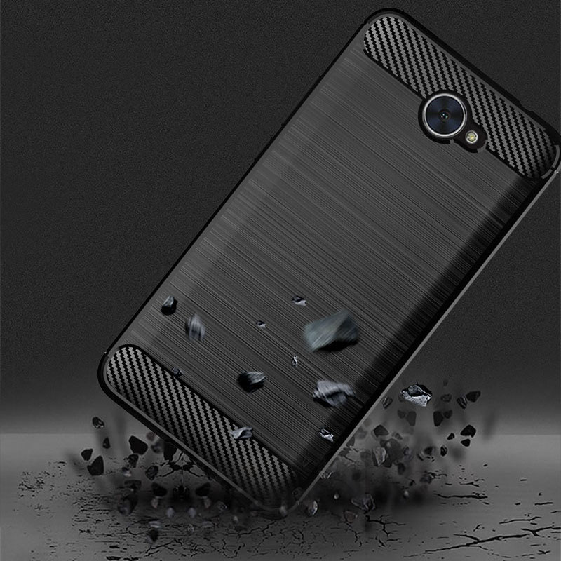 Soft TPU Case For Huawei Ascend XT2 Cover Shockproof Carbon Fiber Silcone  Protector Cases For Ascend XT2 Coque