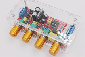 Image 3 - NE5532 OP AMP HIFI Amplificatore Preamplificatore Scheda di Controllo di Tono del Volume EQ kit FAI DA TE o prodotto finito guscio Trasparente