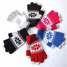 Men Women Winter Stretch Knit Mittens Active Smart Phone Soft Screen Gloves Wool Warm Female Thicken Imitation new