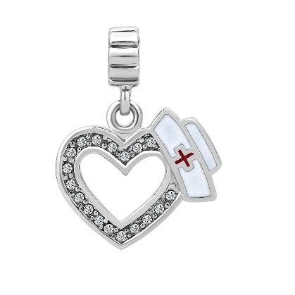 e8b910921 ... czech aliexpress buy fit pandora charm bracelets white birthstones  plate heart love with medical logo dangle