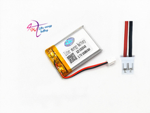 JST PH 2.0mm 2pin 503040 3.7V 600mAh battery Lithium Polymer Rechargeable Battery For Mp3 DVD Camera GPS bluetooth electronics