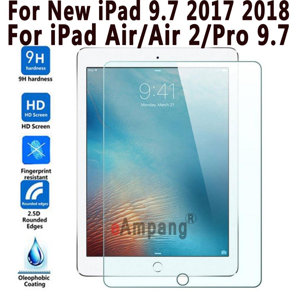 Prime Tablet Protecteur D'écran En Verre Trempé pour Apple Nouvel iPad 9.7 2017 2018 Pro 9.7 pour iPad Air Air 2 Protecteur D'écran