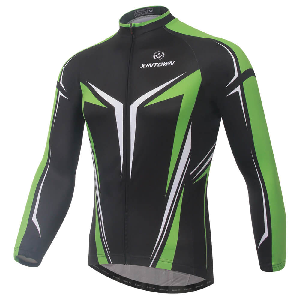 XINTOWN Long Sleeve Cycling Jersey Pro Team MTB Road Bike Jersey Breathable Cycling Clothing Riding Bicycle Wear Clothes