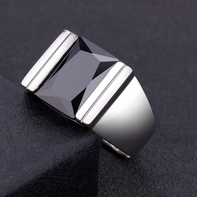 precio competitivo b4989 b61f1 € 48.62 |Anillo obsidiana Natural de plata 925 anillo de plata abierto para  hombre en Anillos de Joyería y accesorios en AliExpress.com | Alibaba ...