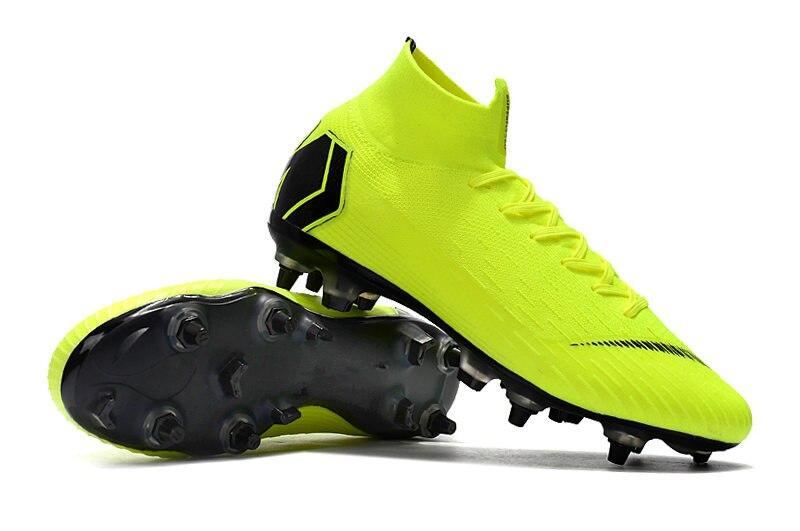 Libération ZUSA Superfly VI Elite SG ACC Football Bottes Hommes Sol Mou de Football Chaussures Crampons avec extra vis LOQUET