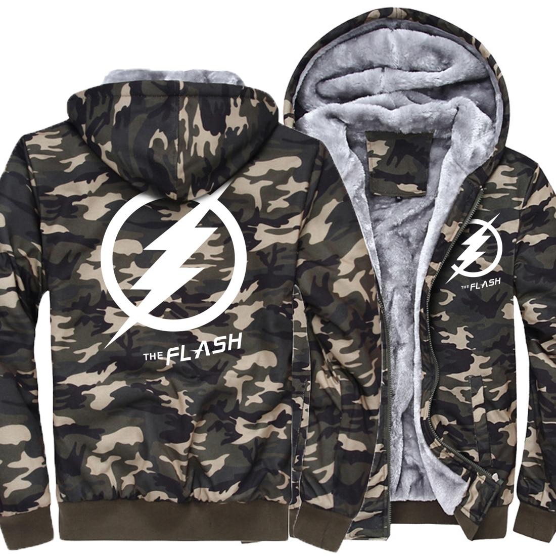 THE FLASH Fashion Sweatshirts Men 2019 New Arrival Brand Camouflage Hoodies Men Hip Hop Streetwear Hoody Harajuku Tracksuit Kpop