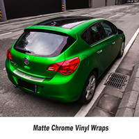 5ft X 65ft Roll Green Matt Chrome Vinyl Film Ice Vinyl Car Sticker Chrome Matt Vinyl
