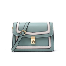 British style retro color matching Crossbody  women bag casual wild commuter business fashion handbags for girl ethnic style women s crossbody bag with hollow out and color matching design