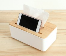 Creative Wooden Tissue Box European Modern Desktop Paper Storage Pocket Towel Living Room Home Decor 6ZJ050
