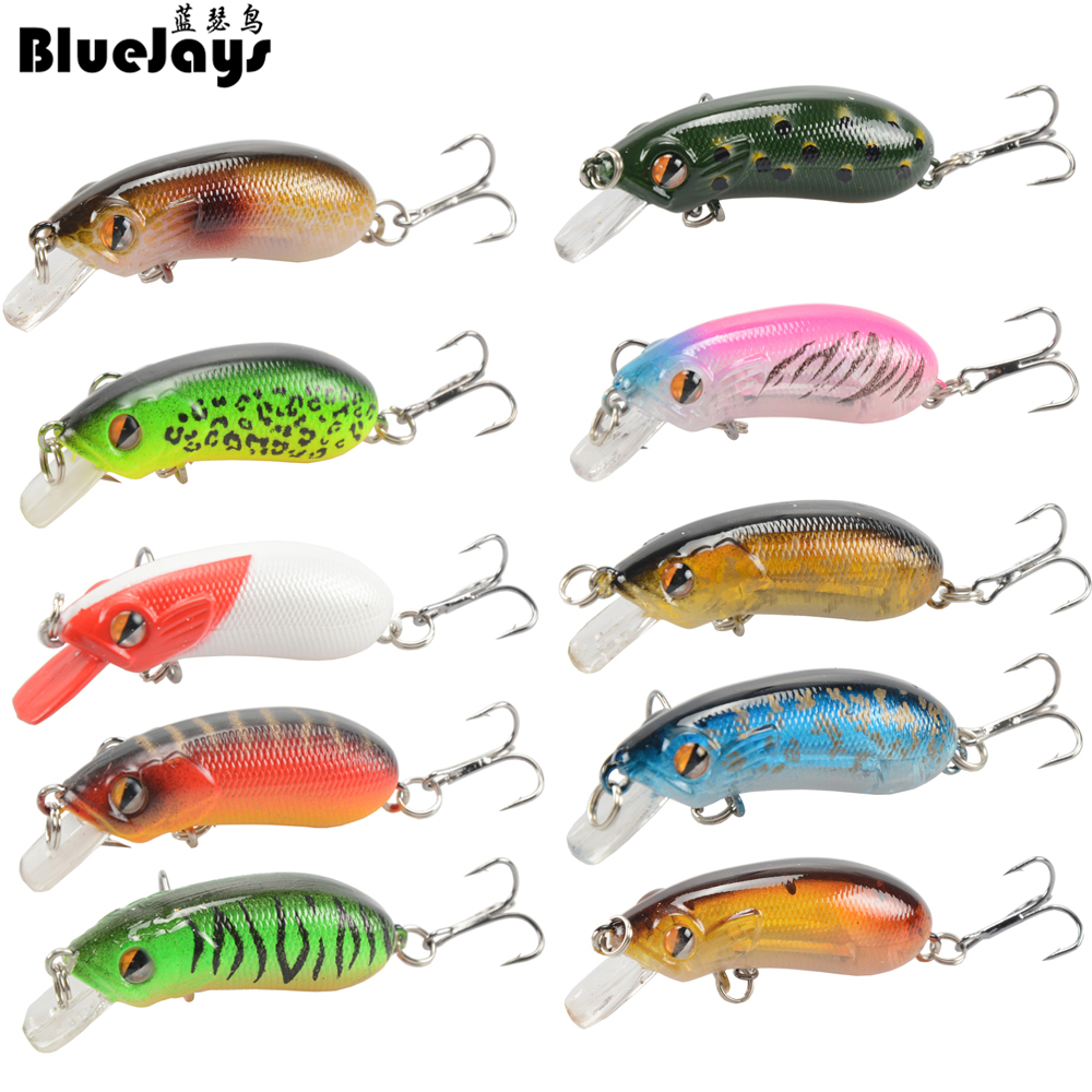 BlueJays 10pcs/lot Super Fishing lure bait Minnow 5cm / 7.5g cub - Fishing