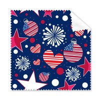 5 Pcs USA America Flag Love Heart Star Festival Glasses Cleaning Cloth Phone Screen Cleaner Superfine