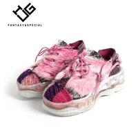 МГС удобные женские кроссовки обувь на плоской подошве 100% натуральная кожа 2018 Новые Толстая подошва кисточкой хип хоп обувь кроссовки для Д