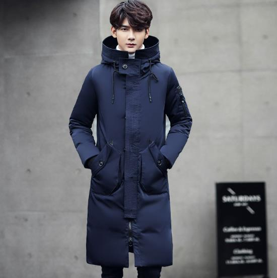 MKASS Winter parkas Warm Men Jackets Casual X-Long Duck Coats & Jackets Thicken Outwear Casual Solid Parkas Plus Size 3XL