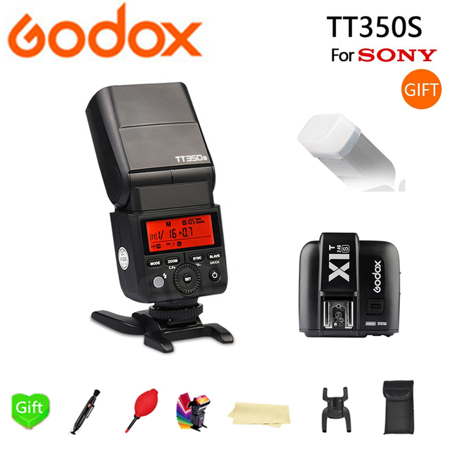 Godox Flash TT350 TT350S GN36 HSS TTL Camera Flash Speedlite for Sony A7 A6000 A6500 Cameras + X1T-S Trigger Transmitter