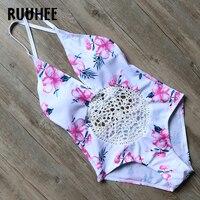 RUUHEE One Piece Swimsuit Swimwear Women 2017 Brand Backless Bodysuit Bathing Suit Crochet Monokini Sexy Beachwear