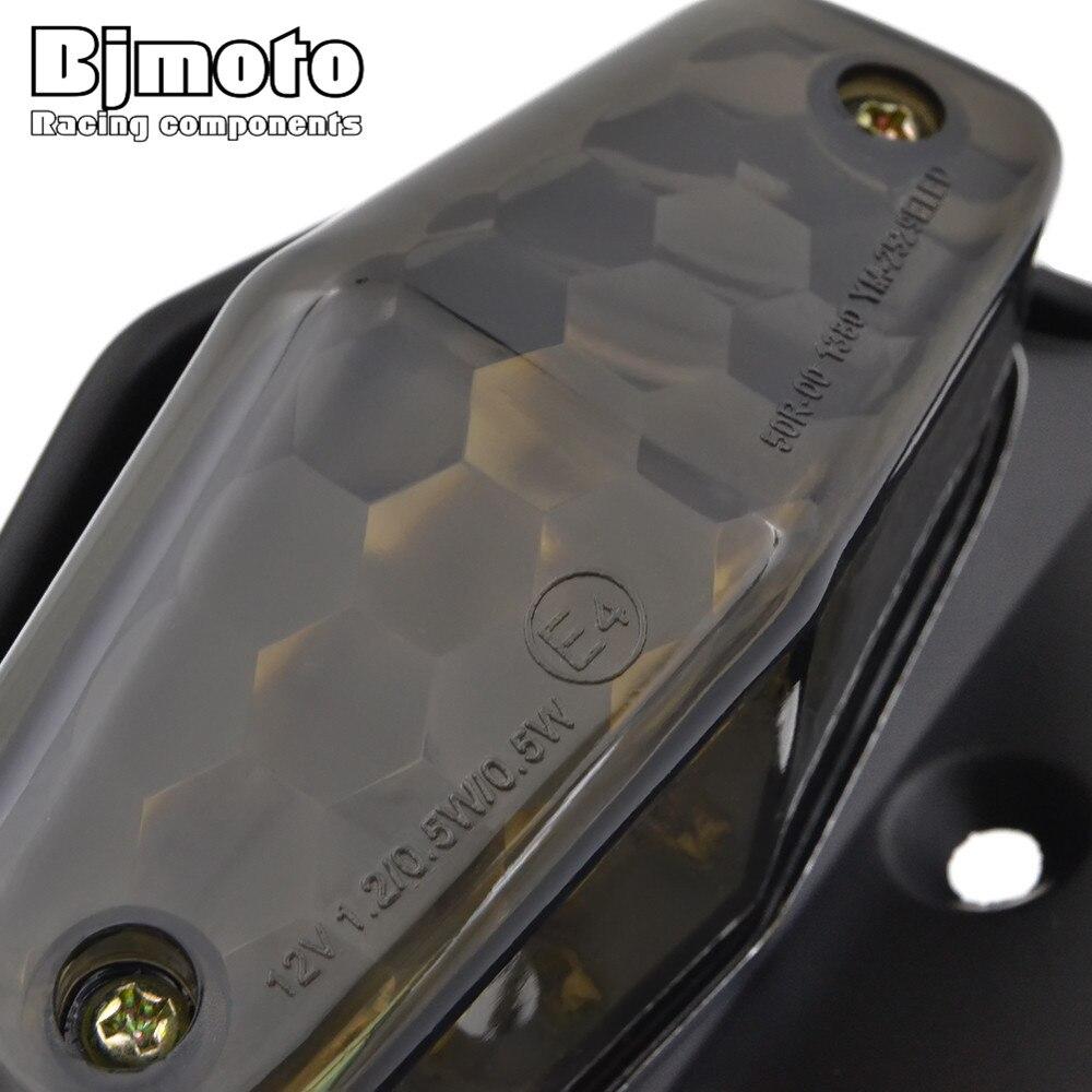 BJMOTO Motorrad 12 V License Nummernschild Rahmen Halter Halterung ...