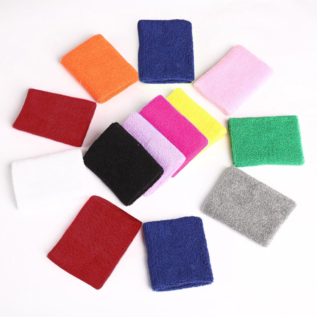 HOT 1pcs Cotton Unisex Sport Sweatband Hand Band Sweat Wrist Support Brace Wraps Guards For Gym Basketball Protector