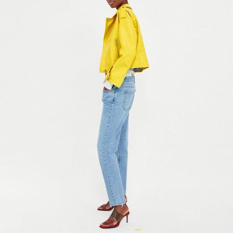 En 2xl Yellow Plus Printemps Nouveau Cuir Taille Femme Femmes La Pocket Zipper Fit Pu Solide Slim De Motard Survêtement 2019 Casual Veste Mode zgBx5ww1q