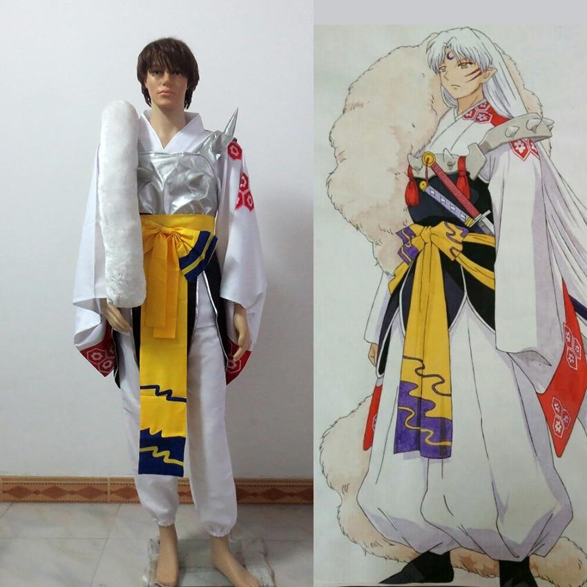 Anime Inuyasha Sesshoumaru Cosplay Costumes Full Set Uniform Halloween Costume