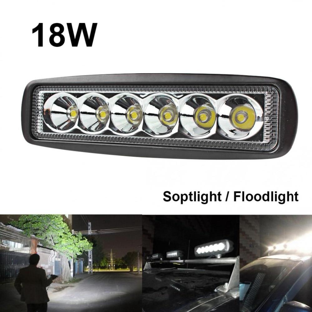 Dayanıklı Evrensel 1550LM 6 Inç 18 W 6000 K Araba LED İş Işık - Araba Farları - Fotoğraf 1