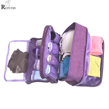 RUPUTIN Women Underwear Bag Portable Travel Organizer Clothes Storage Large Capacity Trip Bra Sock Sorting Makeup Wash Bags