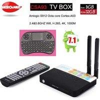 3GB 32GB Android 7 1 Smart TV Box CSA93 Amlogic S912 Octa Core Wifi BT4 0