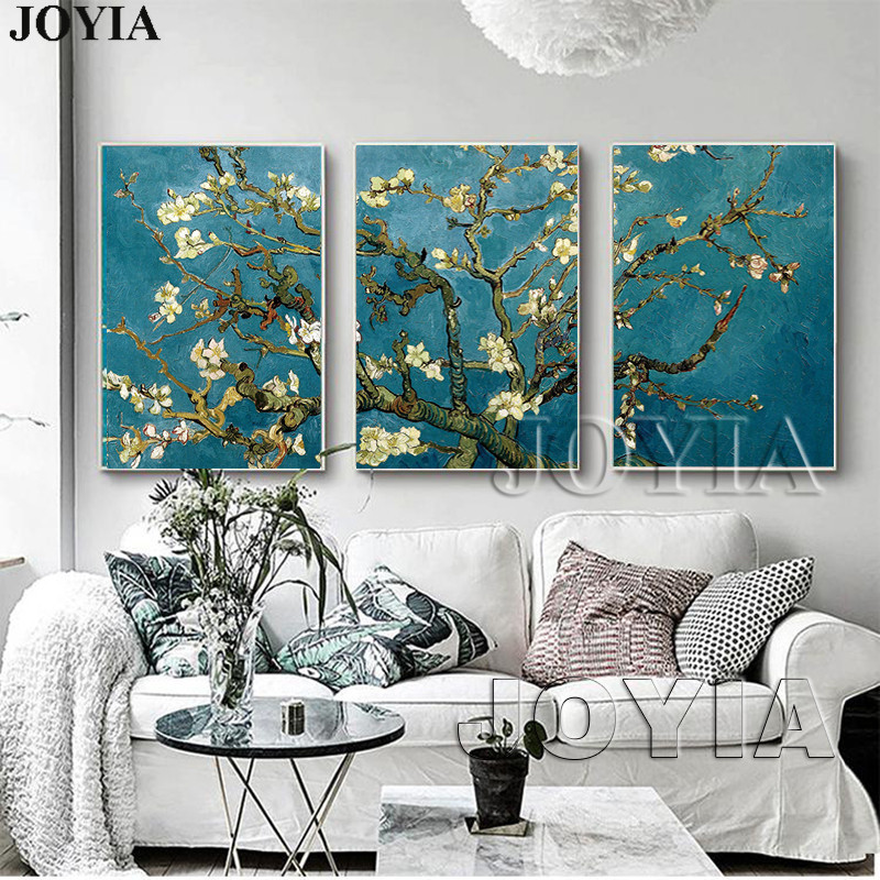 Blossoming Almond Tree Canvas Art Van Gogh Reproduction