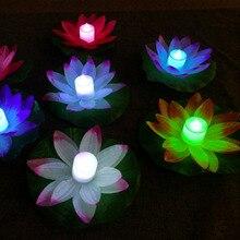 ICOCO светодиодный, искусственный Лотос, красочно изменен, плавающий цветок, лампы для воды, бассейна, желающий светильник, фонари, вечерние лампы