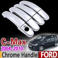 For Ford C MAX 2004 2010 Chrome Handle Cover Trim Set For 4Door C Max Car
