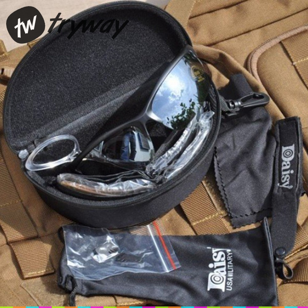 Tactical Eyewear Airsoft Shooting Gafas Daisy C3 Desert Goggles Motorcycles Bike Cycling Glasses Uv400 Men Paintball Sunglasses