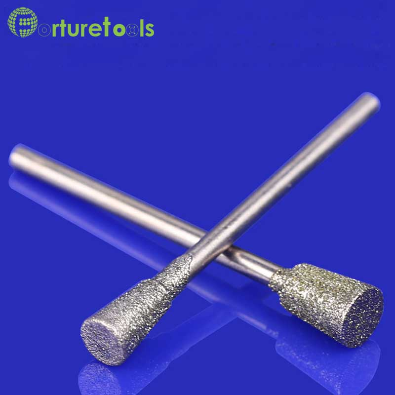"""50vnt deimantiniu būdu tvirtinami """"dremel"""" rotaciniai įrankiai su ratukais, nefasuoti agato raižyti deimantiniai įrankiai, diametras 0,5 ~ 8mm, tipas J MT006"""
