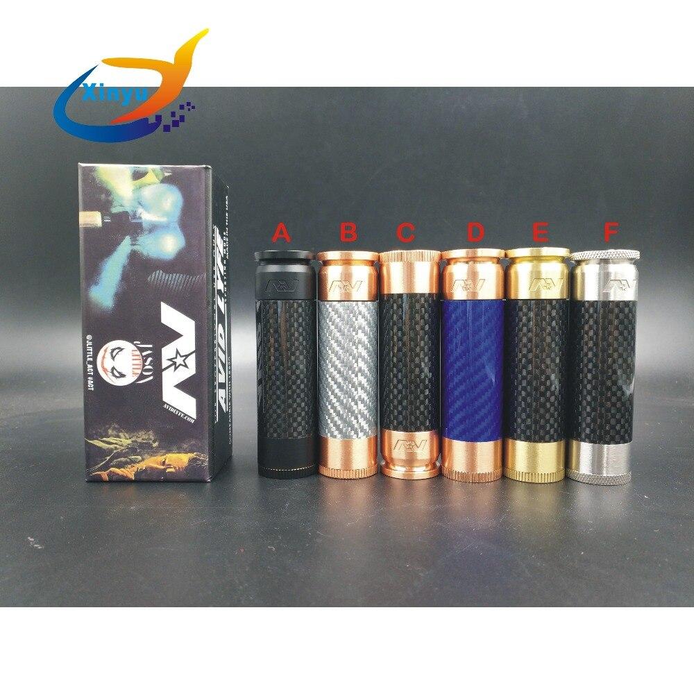 AV FIBER MOD 510 Thread 18650 Battery Electronic Cigarette Vaporizer Mechanical mods Vape red copper/brass Mod for RDA RBA RDTA