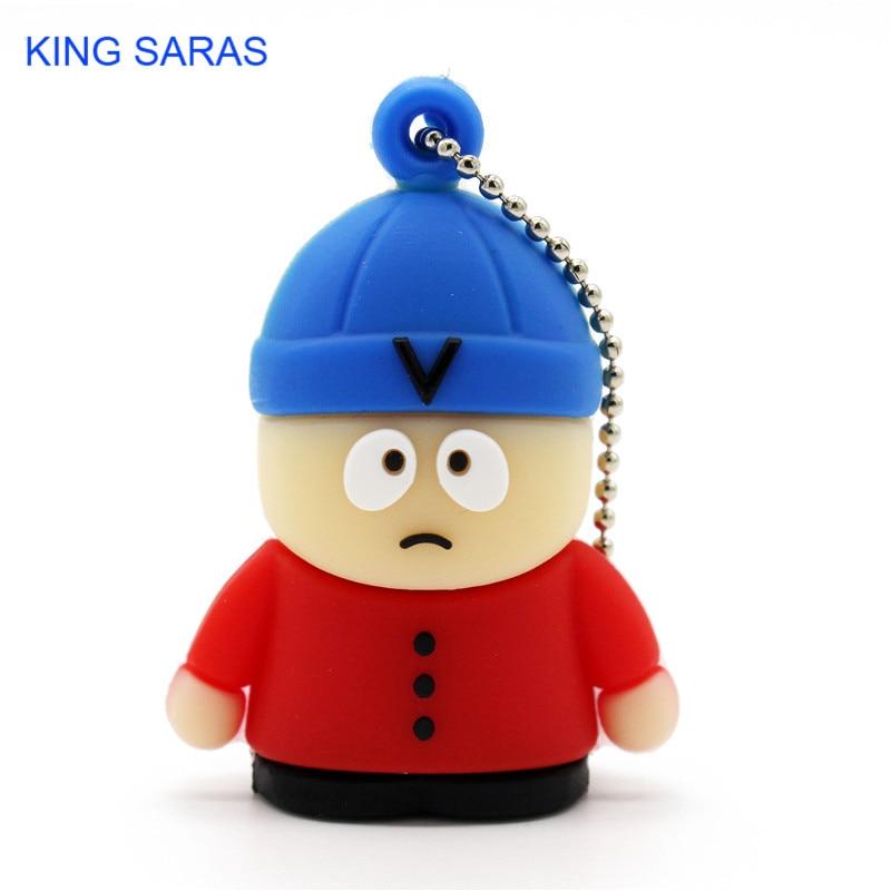 Fast Deliver King Saras Cartoon Cute Blue Hat Chil Model Usb2.0 4gb 8gb 16gb 32gb 64gb Pen Drive Usb Flash Drive Creative Usb Stick Pendrive In Short Supply External Storage